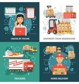 Logistics Delivery Design Concept vector image