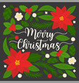merry christmas hand lettering quote vector image vector image