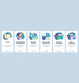 mobile app onboarding screens internet security vector image