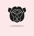 monkey symbol vector image vector image