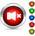 Mute button vector image vector image