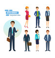 people with briefcases and bags in hands vector image vector image