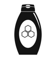 propolis tube icon simple style vector image vector image