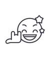 rock star emoji concept line editable vector image vector image