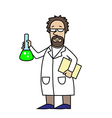 Scientist at Work Scientist with flask vector image vector image