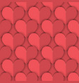 seamless pattern of salmon paper hearts vector image vector image