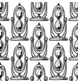 seamless pattern with different hourglass vector image vector image
