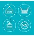 set e-commerce shop online design vector image