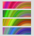 Set of colorful banner backgrounds vector image vector image