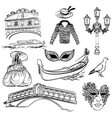 set of venice sketch vector image vector image