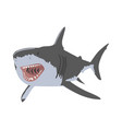 shark open mouth clipping art good for cutting vector image vector image