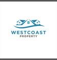 simple home logo design inspiration vector image vector image
