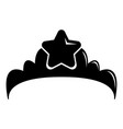small princess crown icon simple black style vector image