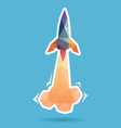Space rocket launching abstract vector image