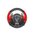 steering wheel gamepad icon vector image