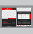 template flyer black with red elements