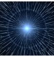 Time warp bright light white sunburst vector image