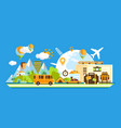 travel around the world tourism concept vector image vector image