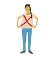 woman protest icon cartoon style vector image vector image