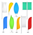 advertisement flags and banners icon set vector image