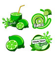 citrus lime fresh label vector image