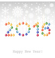 2016 Happy New Year greeting card or background vector image