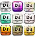 A periodic table button showing Darmstadtium vector image vector image