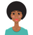 African American young woman portrait vector image vector image