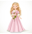 Beautiful modest princess in a pink dress vector image vector image
