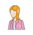 beautiful student girl character avatar image vector image vector image