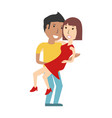 beautiful young couple vector image vector image