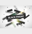 black friday modern abstract background sale vector image