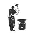 blacksmith isolated symbol stylized retro emblem vector image