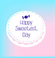 bonbon sweetest day logo simple style vector image vector image