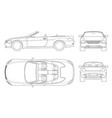 cabriolet car in outline cabrio coupe vehicle vector image vector image