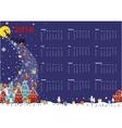 calendar santa coming to cityhorizontal vector image