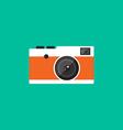 Camera retro vintage style flat design vector image vector image