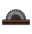 circular blade saw vector image