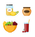 collection food infographic elements vector image vector image