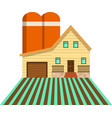 cute wood farm house with garage and water tank vector image vector image