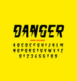 danger hight voltage style font design alphabet vector image vector image