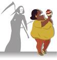 danger obesity vector image