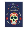 day the dead dia de los muertos banner flat vector image vector image