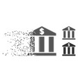 decomposed pixel halftone bank building icon vector image vector image