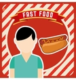 delicious fast food vector image vector image