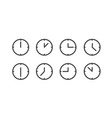 different status clocks collection vector image