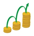 Finance growth icon cartoon style vector image vector image