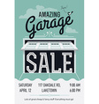 Garage Sale Poster vector image vector image