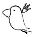 grunge nice bird fauna animal vector image vector image