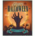 halloween flyer2 vector image vector image